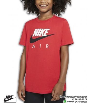 Camiseta Niño NIKE AIR Classic Logo Rojo-Blanco-Negro