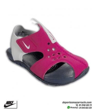 Sandalia Nike SUNRAY PROTECT 2 infantil Rosa-Blanco