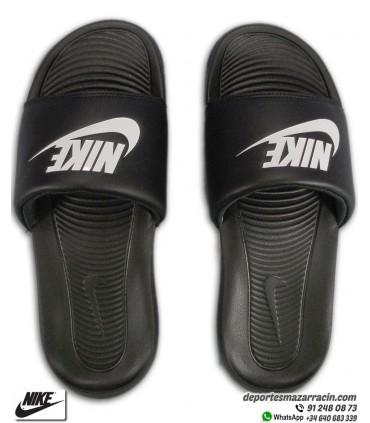 Chancla Nike VICTORI ONE SLIDE Negro-Blanco