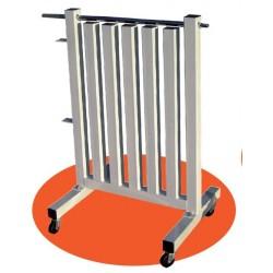 soporte de pesas de VINILO con ruedas softee gimnasio fitness