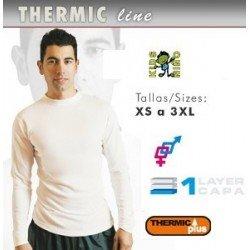 Camiseta Termica niño manga larga futbol, tenis, atletismo