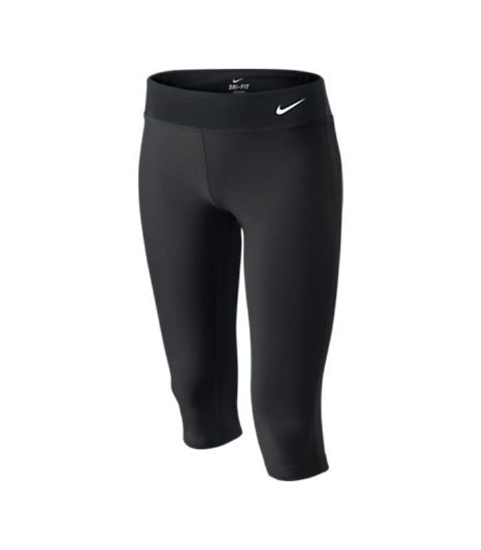 Acuario acre Nacional  NIKE Malla PIRATA Lycra DRI-FIT gimnasio fitness pantalon deporte chica  mujer negro