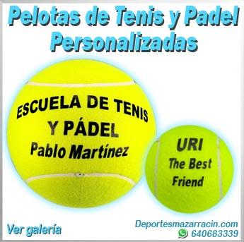 Pelotas de tenis y padel personalizadas