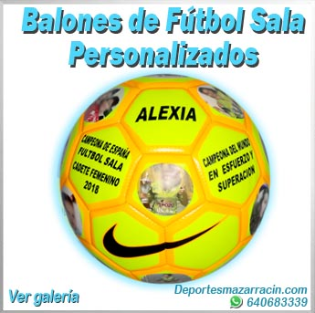 Balones de futbol sala personalizados