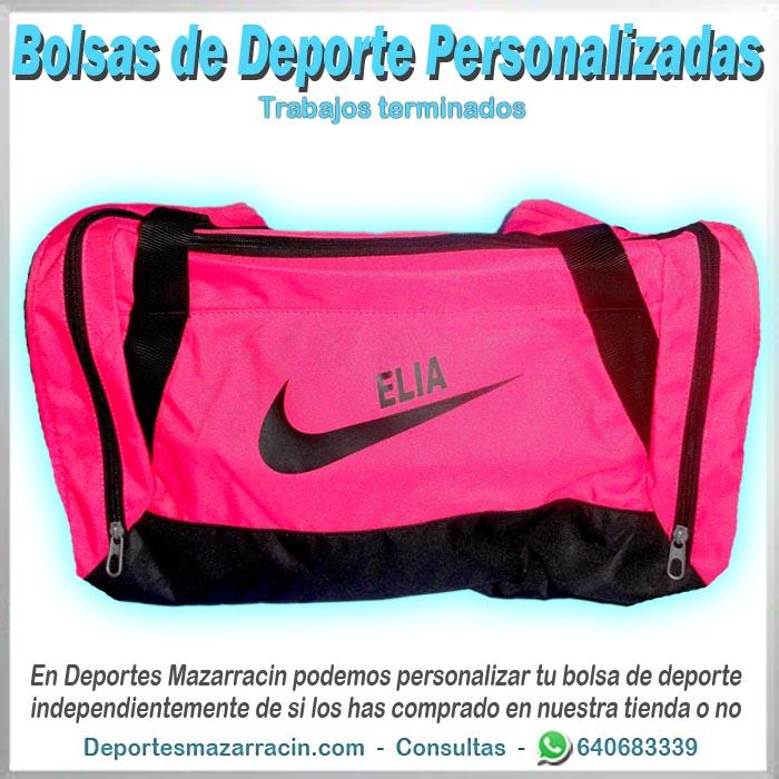 bolsa de deporte personalizada nike con nombre