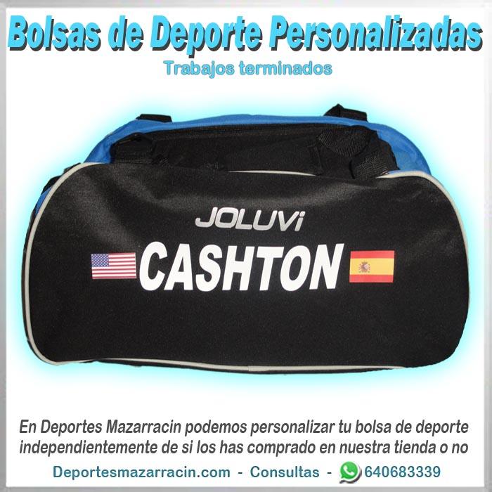 bolsa de deporte personalizada nombre y banderas