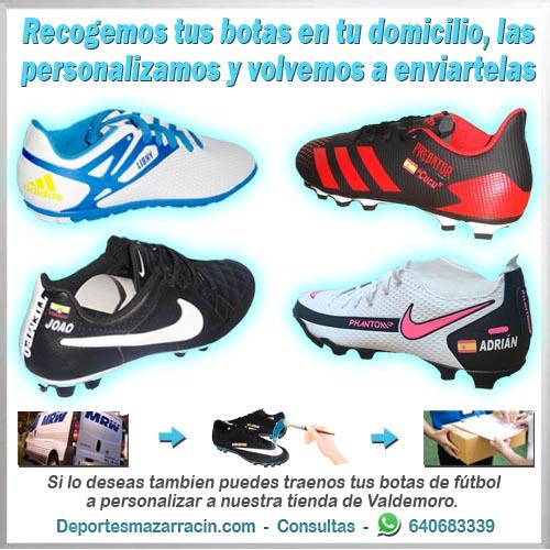personalización de botas de futbol