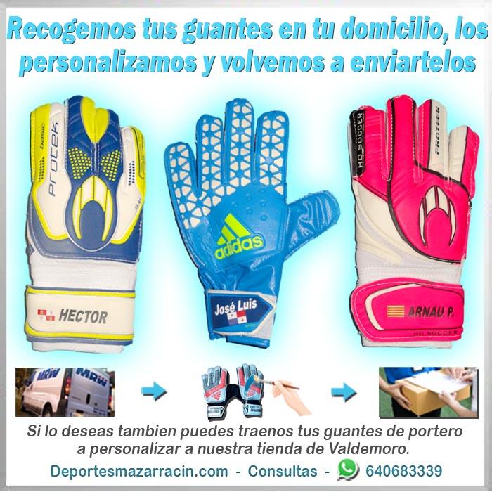 personalización de guantes de portero