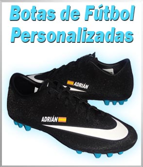 Botas de futbol personalizadas