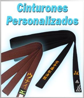 Cinturones de artes marciales personalizados