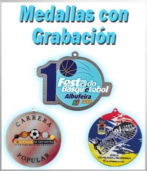 medallas grabadas y personalizadas
