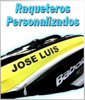 raqueteros tenis personalizados