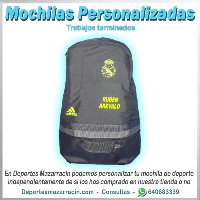 mochila personalizada adidas nombre y apellidos