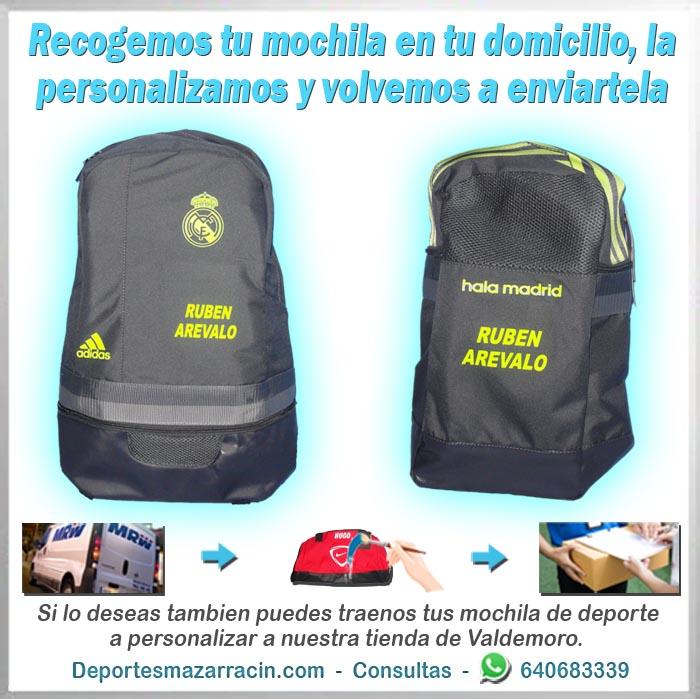 personalización de mochilas