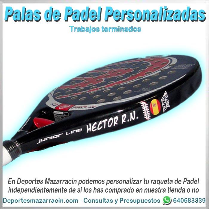 pala de padel personalizada bullpadel nombre bandera España