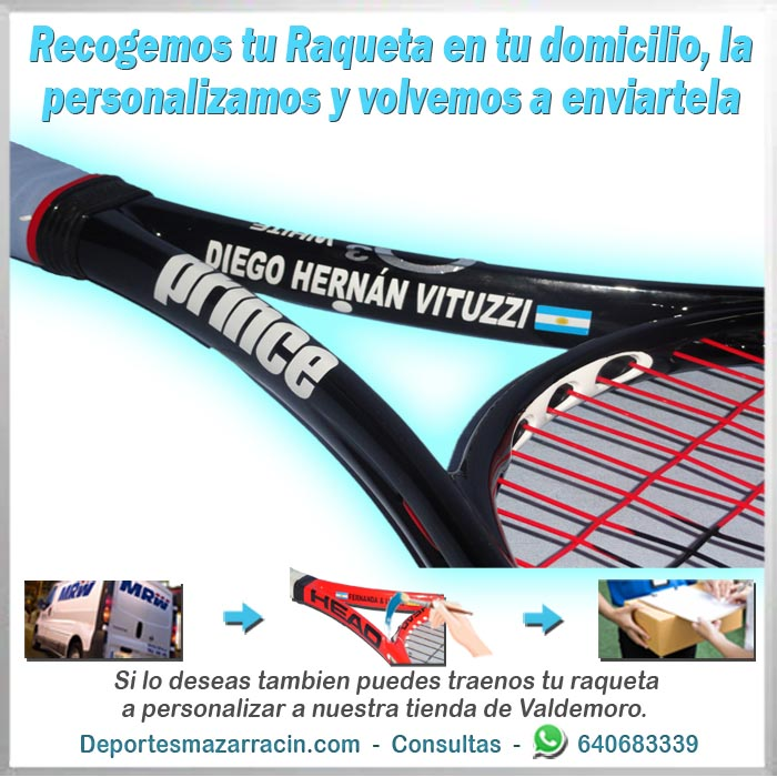 personalizar Raqueta de tenis