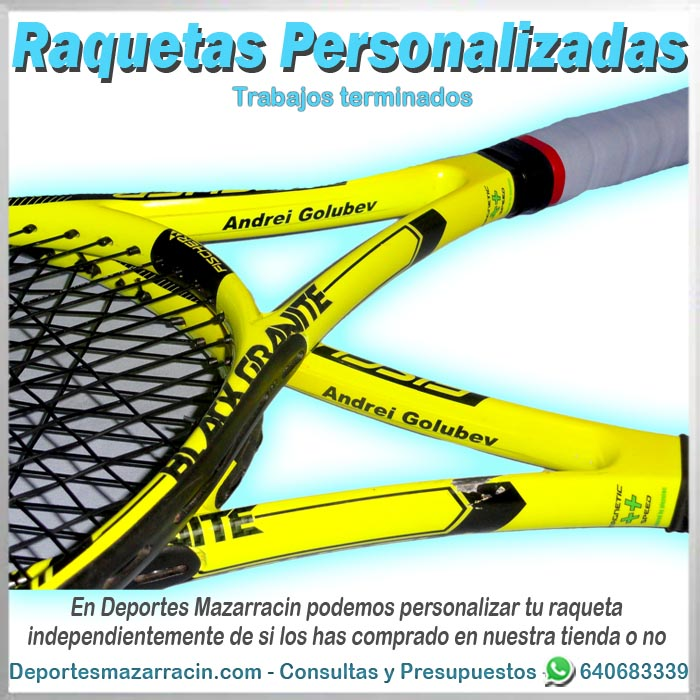 Raqueta de tenis personalizada con nombre