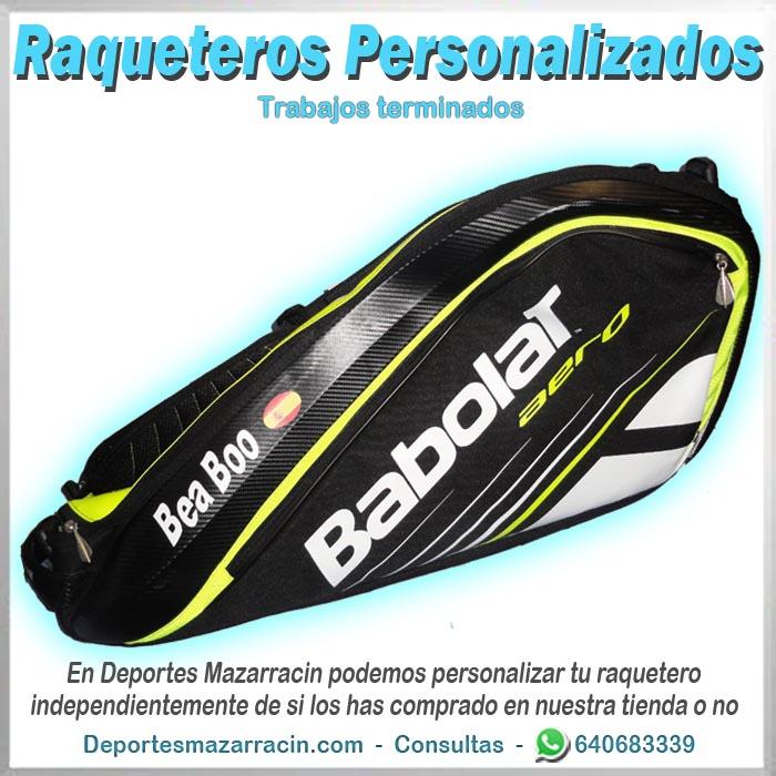 raquetero personalizado babolat nombre y bandera
