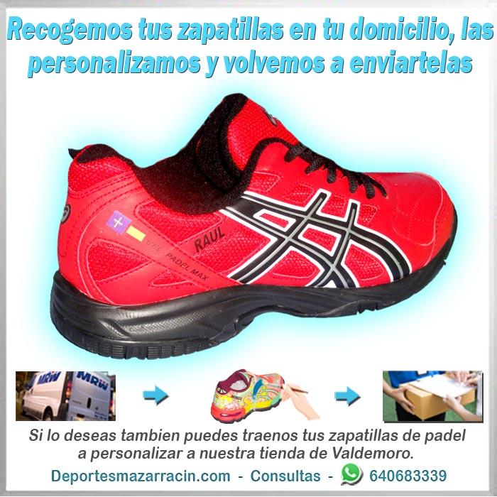 personalización de zapatillas de padel