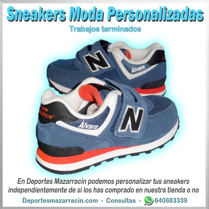 zapatilla de moda calle personalizada new balance