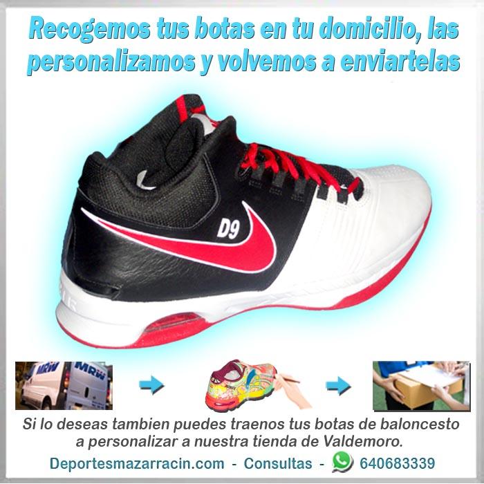 personalización de botas de baloncesto