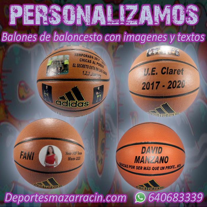 Personalización balones de Baloncesto imágenes y textos