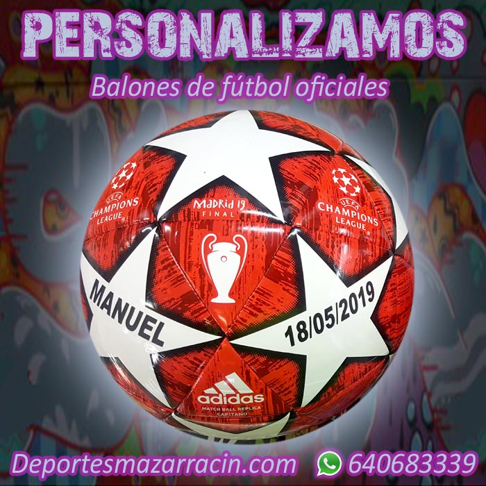 Personalización balones de futbol oficiales