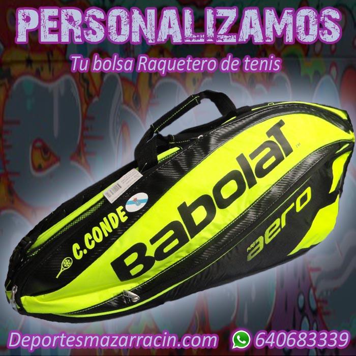 Personalización de raquetero de tenis