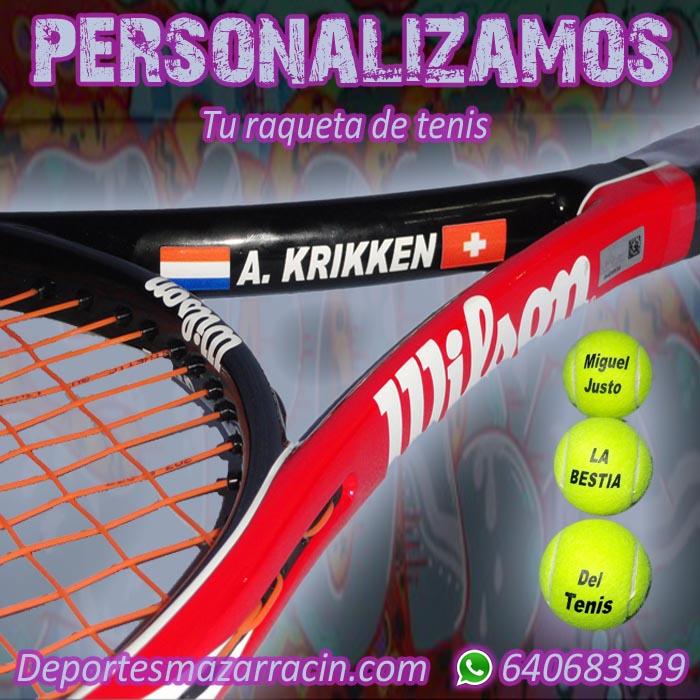 Personalización de raquetas de tenis