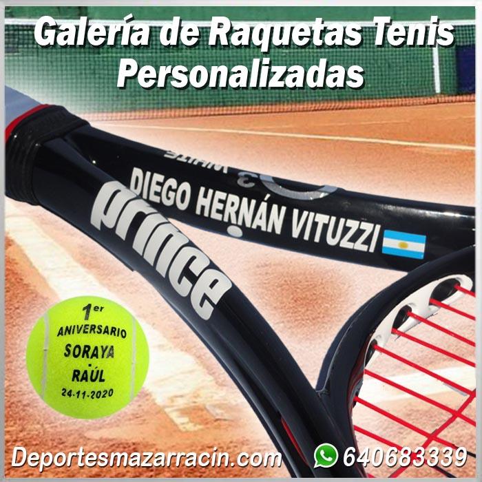 Galería de raquetas de tenis Personalizadas