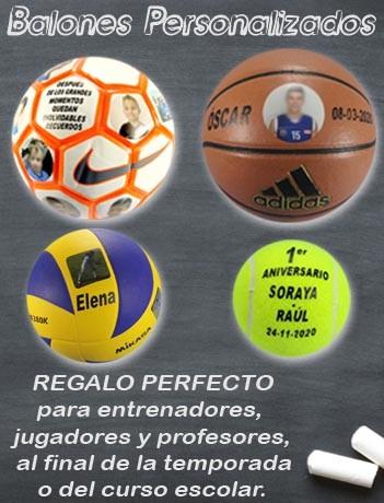 Balones con fotos y textos personalizados en  Deportes Mazarracin Valdemoro