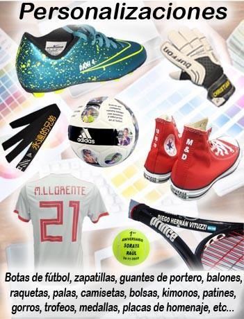 Galería de productos personalizados en  Deportes Mazarracin Valdemoro